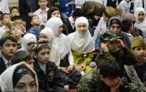 Ученики были зрителями и участниками праздника