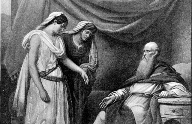 Праотец Авраам и его жены. Иллюстрация к Библии