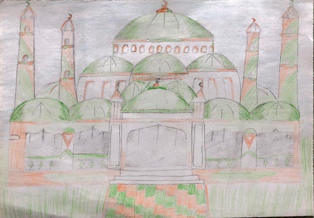 """Конкурс рисунка """"Моя любимая мечеть"""""""